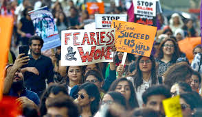 PA denounces 'objectionable' portraits, slogans in women's day rallies