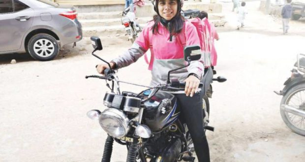 Meet Pakistan's first female food-rider