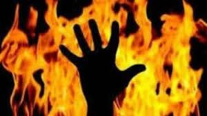 Woman set ablaze by husband over domestic issues