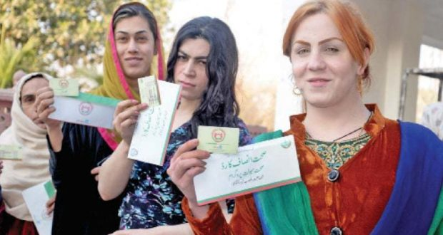 Transgender community members get health cards in KP