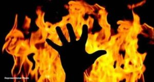 Woman burned to death